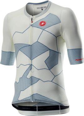 Castelli Climber's 3.0 korte mouw fietsshirt wit/blauw heren