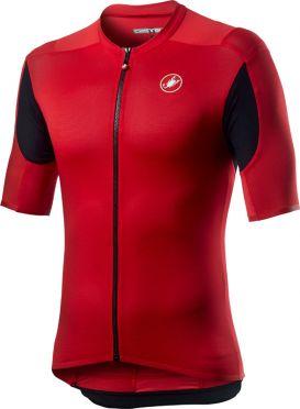 Castelli Superleggera 2 korte mouw fietsshirt rood heren