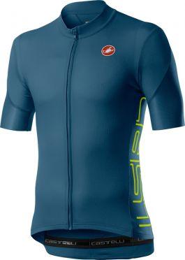 Castelli Entrata V korte mouw fietsshirt blauw/groen heren
