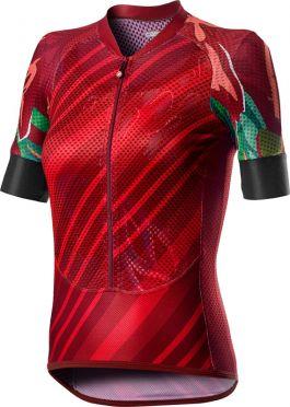 Castelli Climber's W korte mouw fietsshirt rood dames
