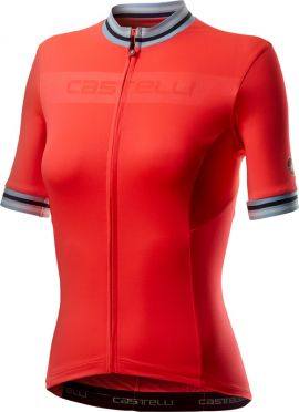 Castelli Promessa 3 korte mouw fietsshirt rood dames