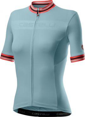 Castelli Promessa 3 korte mouw fietsshirt lichtblauw dames