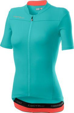 Castelli Anima 3 korte mouw fietsshirt lichtblauw dames