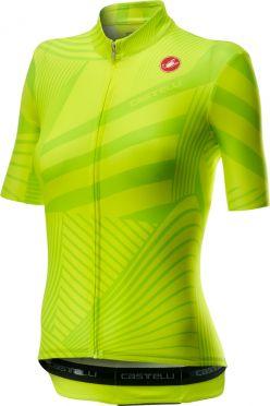 Castelli Sublime korte mouw fietsshirt geel dames