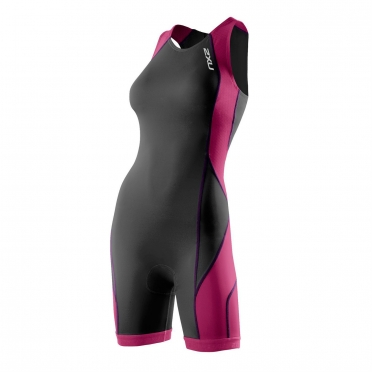 2XU Comp Trisuit Women's Rear Zip Charcoal UV 2013 (WT2329d)