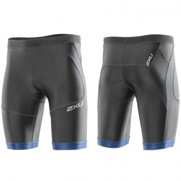 "2XU Perform tri short 9"" heren zwart-blauw 2015 MT2704b"