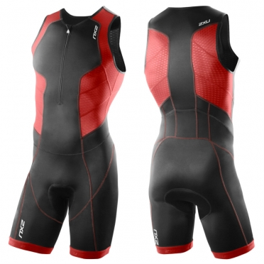 2XU Perform tri suit heren 2015 zwart-rood MT3197d