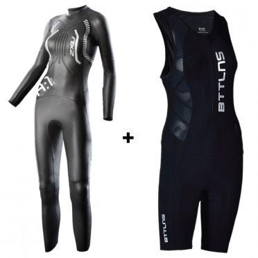 2XU A:1 dames wetsuit + GRATIS BTTLNS trisuit Sibyna 1.0