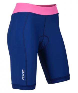 """2XU Active Tri short 7.5"""" blauw/roze dames"""