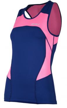 2XU Active Tri singlet blauw/roze dames
