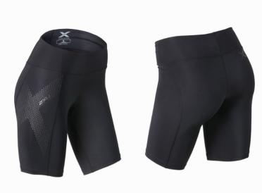 2XU Mid-rise Compressie Short zwart/grijs dames