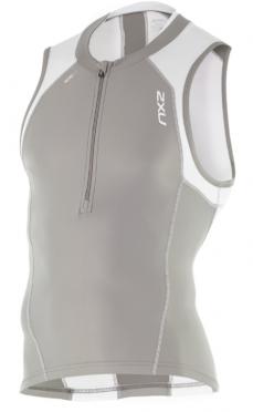 2XU Compression Tri Top grijs/wit heren