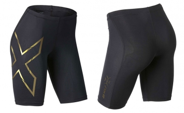 2XU Elite MCS Compression short zwart/goud dames