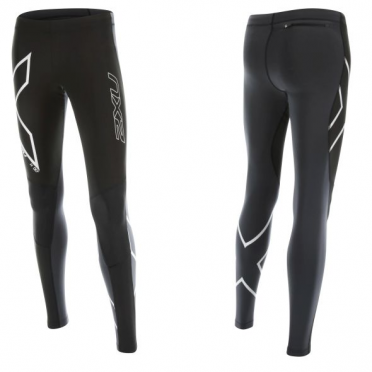 2XU G:2 Wind Defence Thermal Compression Tights zwart/wit dames