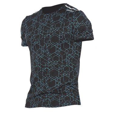2XU GHST hardloopshirt korte mouw zwart/blauw heren