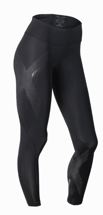 2XU Mid-rise compressie lange broek zwart dames