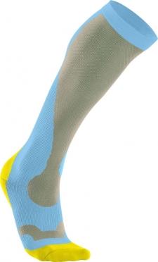 2XU Performance compressie sokken blauw/geel dames
