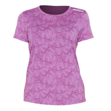 2XU GHST hardloopshirt korte mouw roze dames