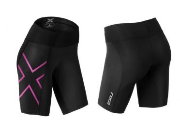 2XU Mid-rise Compressie Short zwart/paars dames