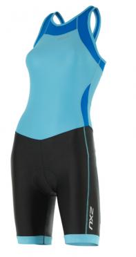 2XU X-vent Y-back Trisuit zwart/lichtblauw dames