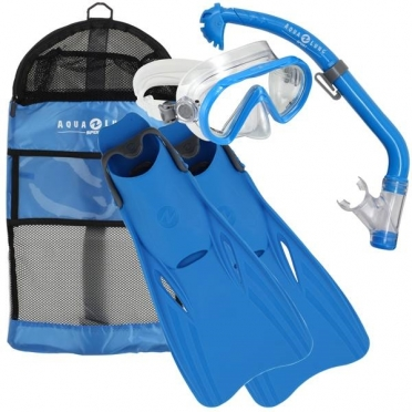 Aqua Lung Sport Santa Cruz Kids Snorkelset maat L/XL blauw