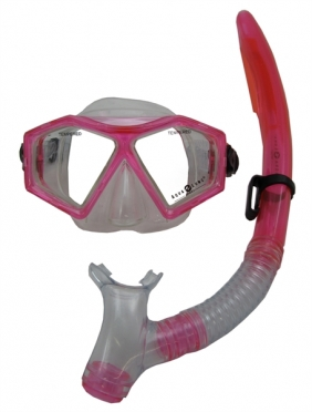 Aqua Lung Sport Molokai + Spout Kids Snorkelset roze