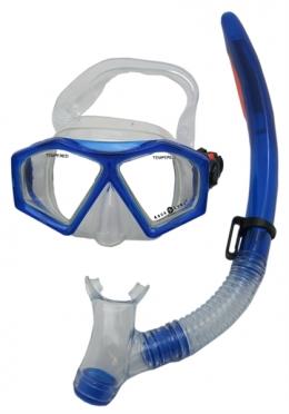 Aqua Lung Sport Molokai + Spout Kids Snorkelset donkerblauw