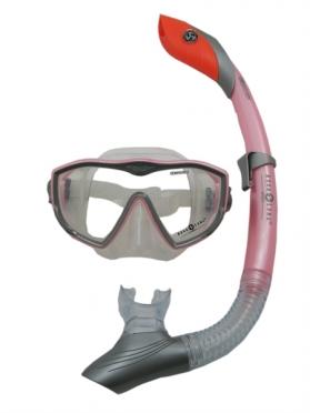Aqua Lung Sport Diva I LX + Island Dry Snorkelset dames