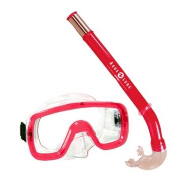 Aqua Lung Sport Peeka + Tonga Kids Snorkelset rood