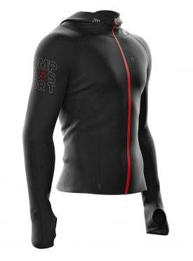 Compressport 3D Thermo Seamless woodpulp zip hoodie zwart