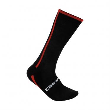 Castelli Venti fietssokken zwart/rood heren 13537-123