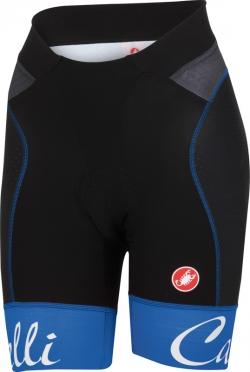 Castelli Free aero W short zwart/mat blauw dames