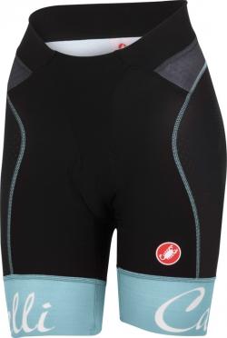 Castelli Free aero W short zwart/pale blauw dames