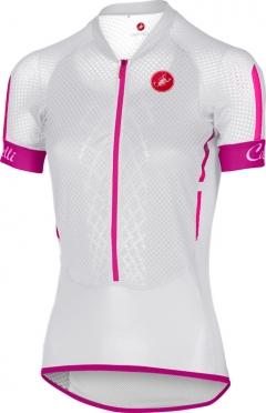 Castelli Climber's W jersey wit/roze dames