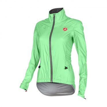 Castelli Donnina rain fietsjack groen fluo dames 15564-045