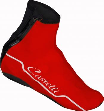 Castelli Troppo overschoenen rood dames 15571-023