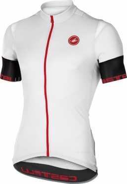 Castelli Entrata 2 fietsshirt korte mouw wit/zwart heren