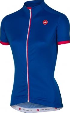 Castelli Anima fietsshirt mat blauw dames