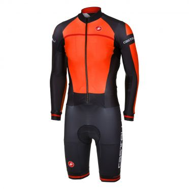 Castelli CX 2.0 speedsuit oranje/zwart heren