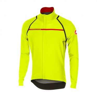 Castelli Perfetto convertible jacket geel-fluo heren