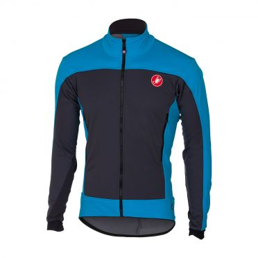 Castelli Mortirolo 4 jacket antraciet/blauw heren