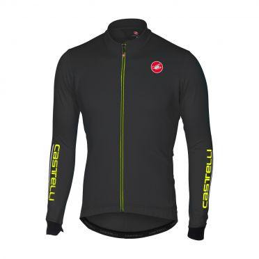 Castelli Puro 2 fietsshirt lange mouw licht zwart heren