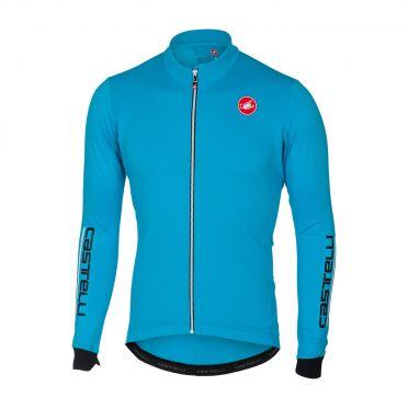 Castelli Puro 2 fietsshirt lange mouw blauw heren