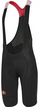 Castelli Omloop thermal bibshort zwart/rood heren 16520-231