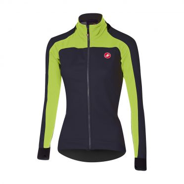 Castelli Mortirolo 2 W lange mouw jacket antraciet/lime dames
