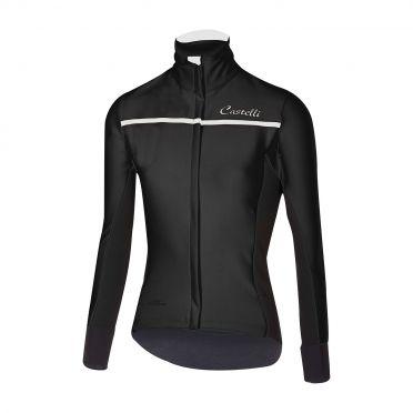 Castelli Trasparente 3 W fietsshirt lange mouw zwart dames