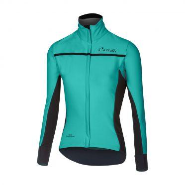 Castelli Trasparente 3 W fietsshirt lange mouw turquoise dames