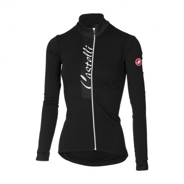 Castelli Sorriso fietsshirt lange mouw zwart dames