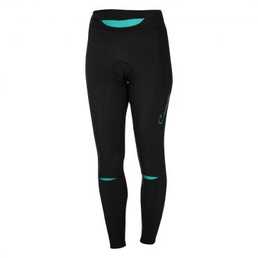 Castelli Chic tight zwart/turquoise dames