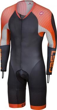 Castelli Body paint 3.3 speedsuit lange mouw zwart/oranje heren